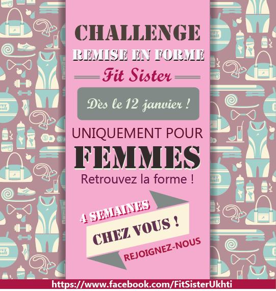 Challenge remise en forme fit sister fit sister 39 s blog for Remise en forme